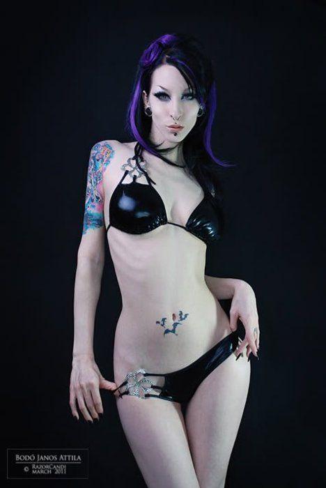 Goth bikini women