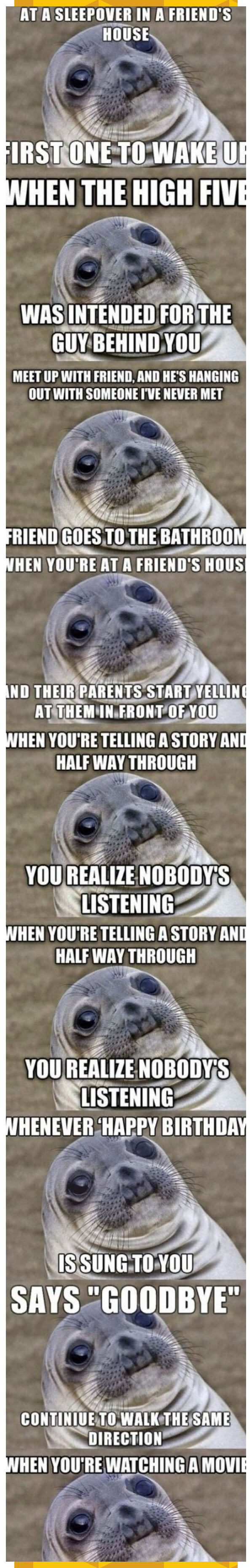 9 Awkward Moments You Have In Common With This Seal Funnypictures Funny Pictu In 2020 Fun Quotes Funny Awkward Moments Funny Faces Quotes