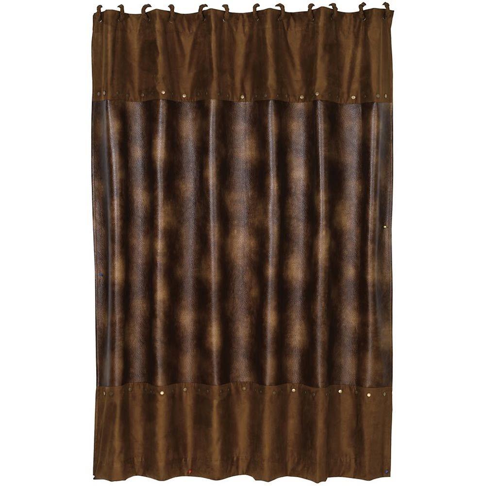 Faux Cowhide Shower Curtain