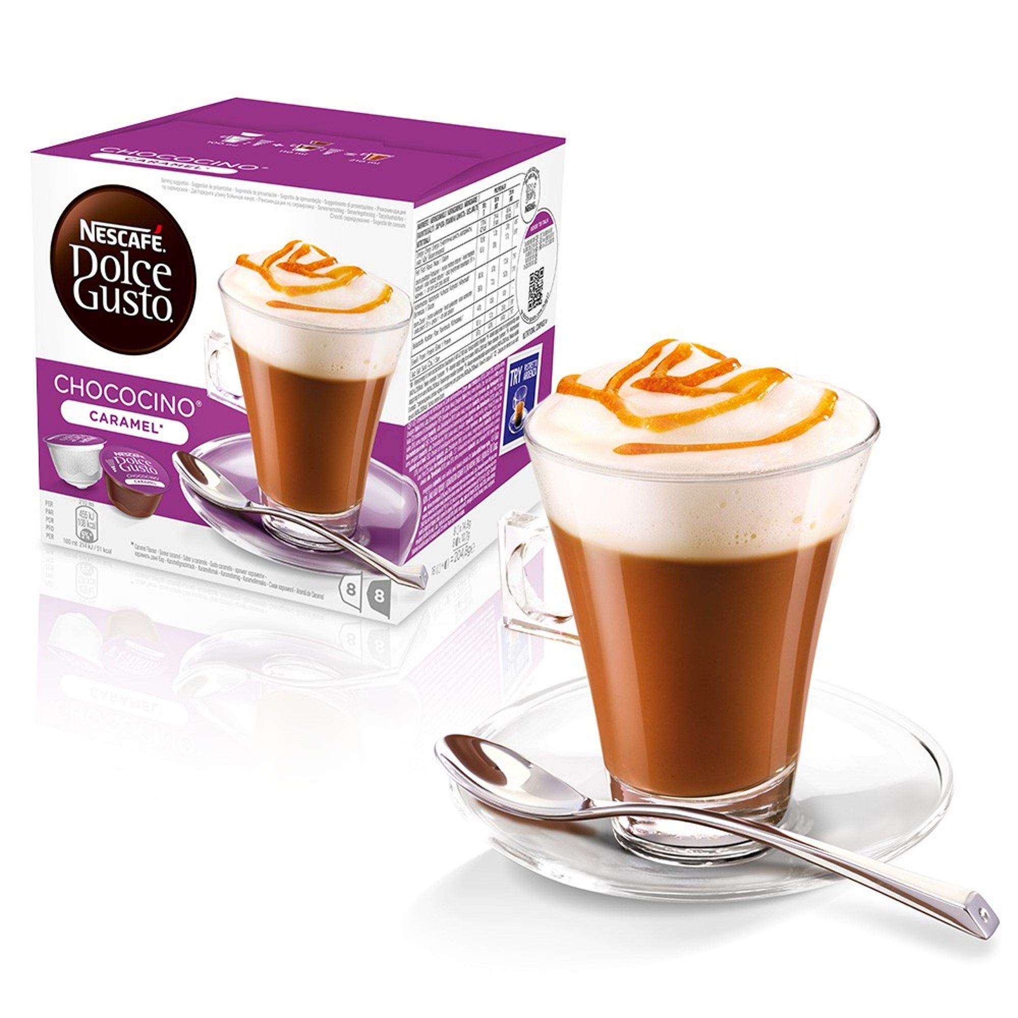 Nescafe Dolce Gusto Chococino Caramel Hot Chocolate Coffee
