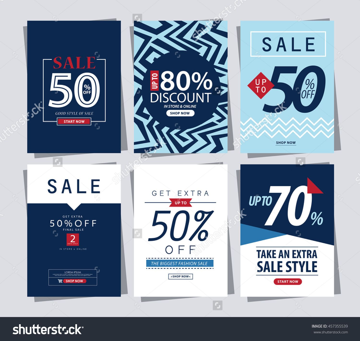 set of sale banner poster tag template for shopping ads web template