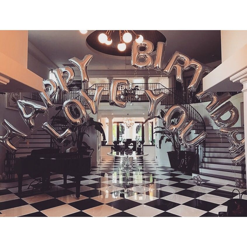 ♡ On Pinterest @ kitkatlovekesha ♡ ♡ Pin: Photography ~ Silver Happy Birthday Love You Balloons ♡