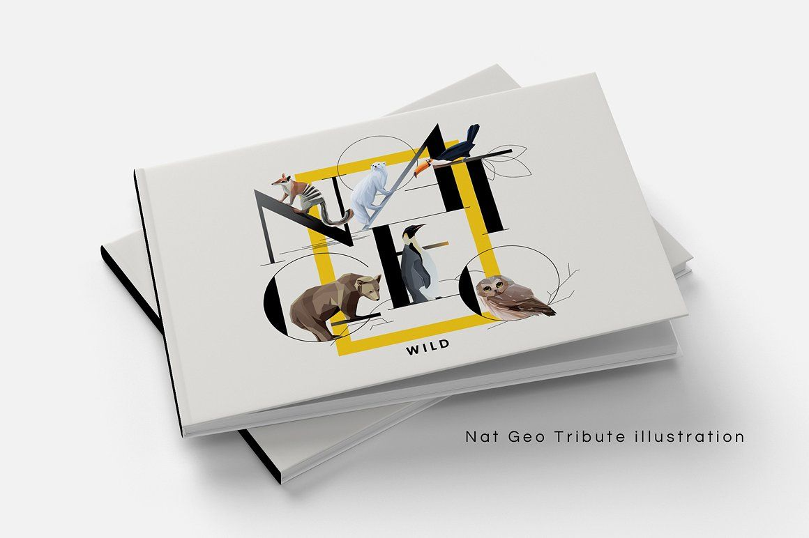 Animal Typography by Polar Vectors on @creativemarket