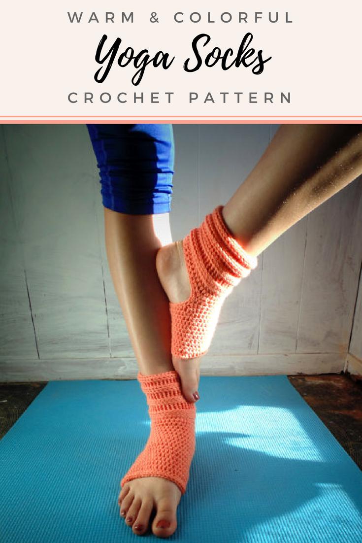 Nice Crochet Pattern Rolled Yoga Socks Pilates Socks Dance