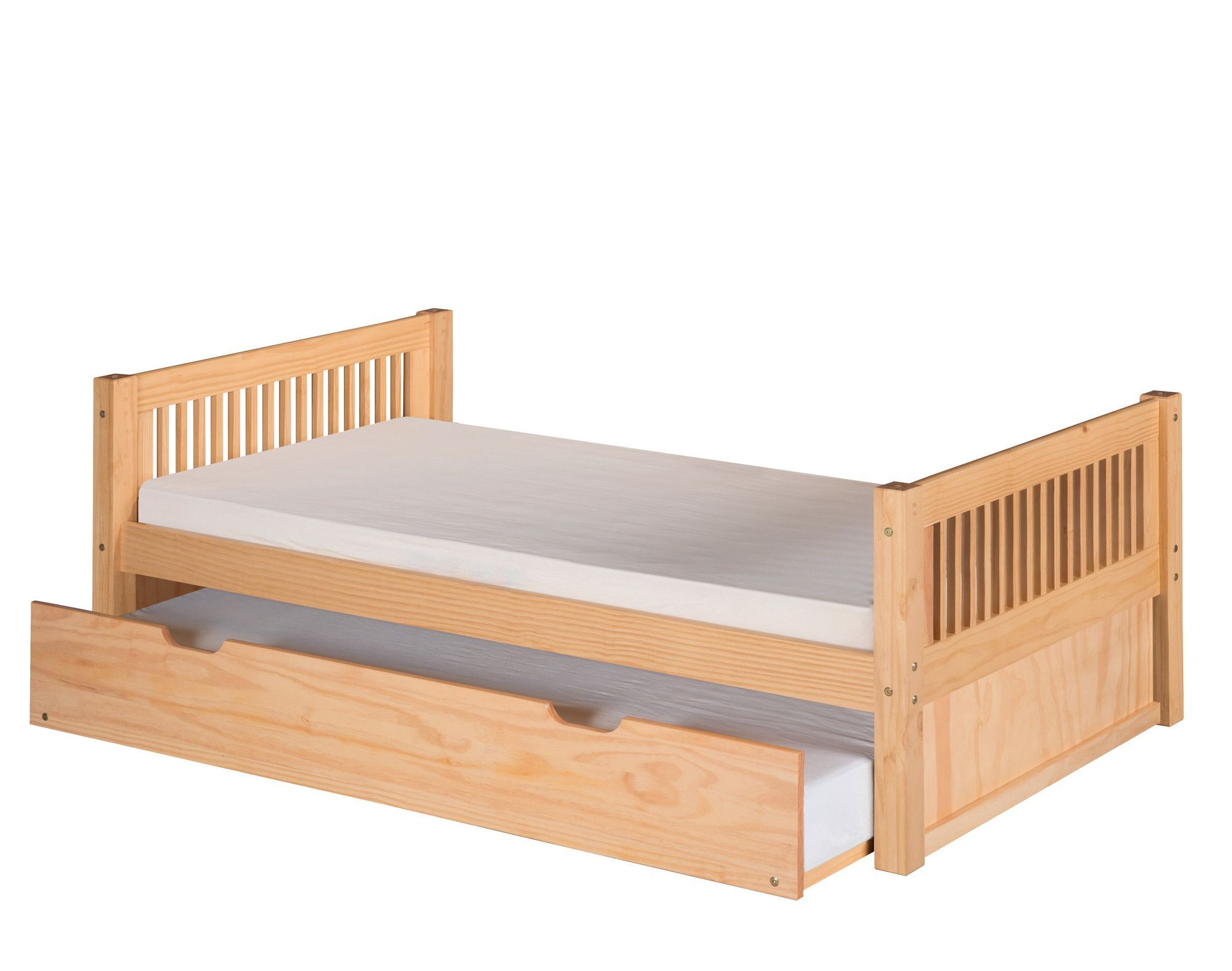 Twin loft bed dimensions  Twin Slat Bed with Trundle  Boysu beds  Pinterest  Twins