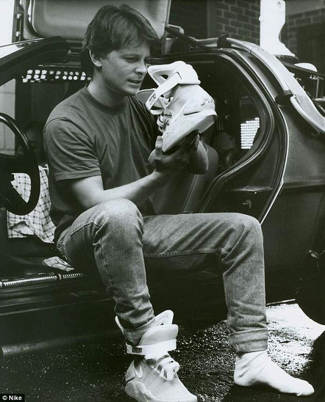 5f83feb73c2c ... Back to the Future trainers McFly off the shelves British rapper Tinie  Tempah picks up the Michael J. Fox ...
