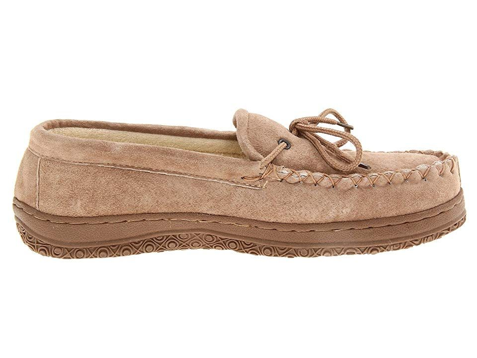 33e63dea098 Old Friend Cloth Lined Moccasin Men s Slippers Chestnut