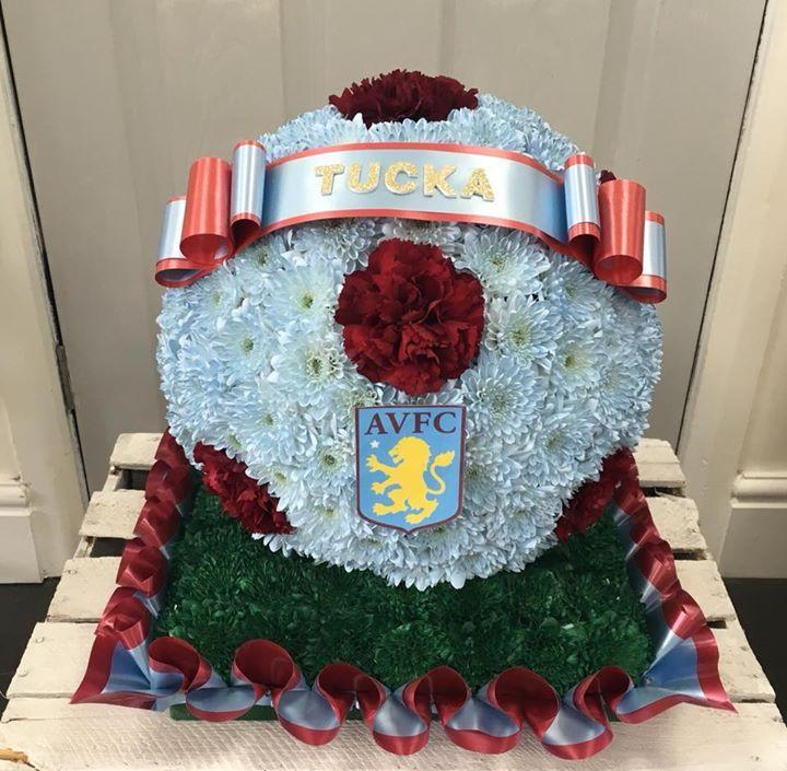 Aston villa football tribute floral arrangements