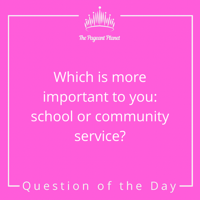 Pageant Question About Whether School or Community Service