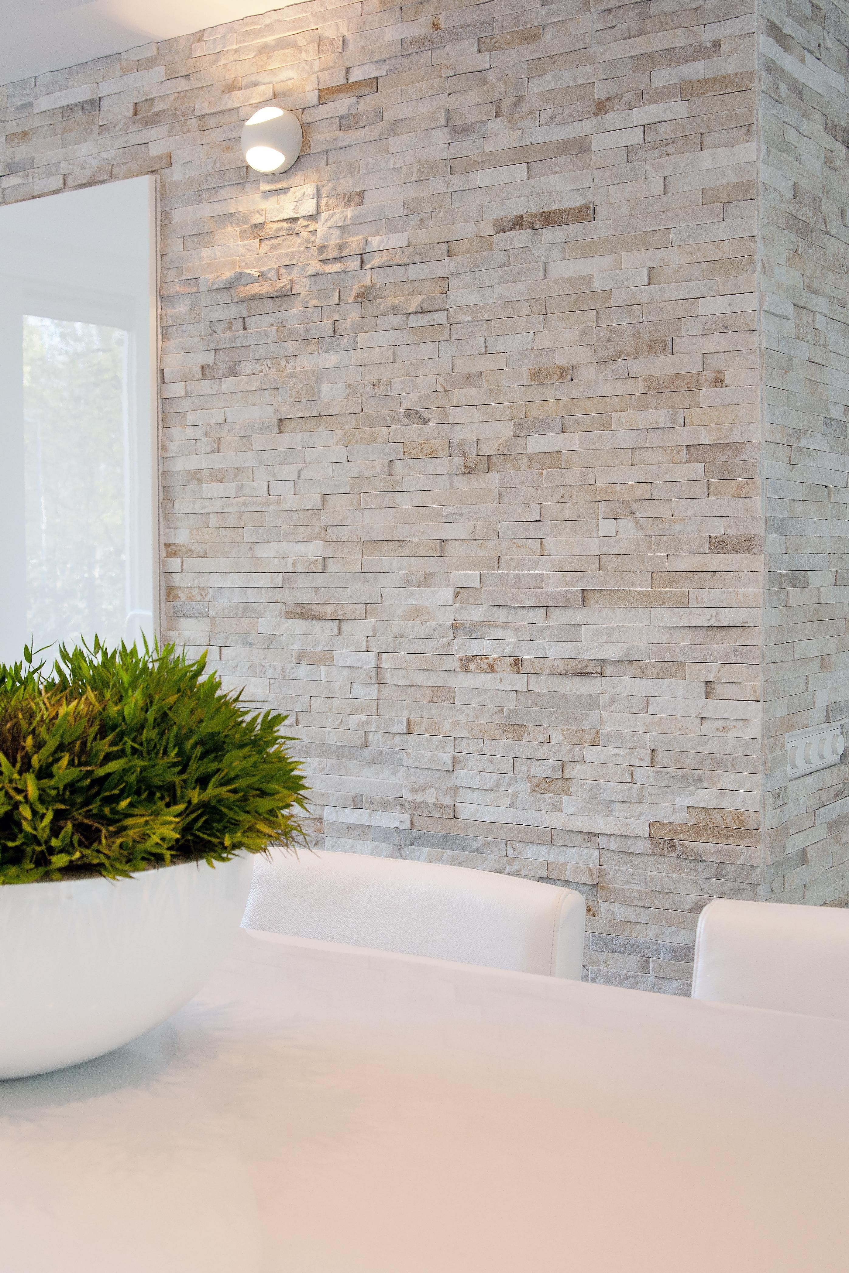 Kitchen wall with barroco stone panels k che pinterest - Steinwand paneel ...