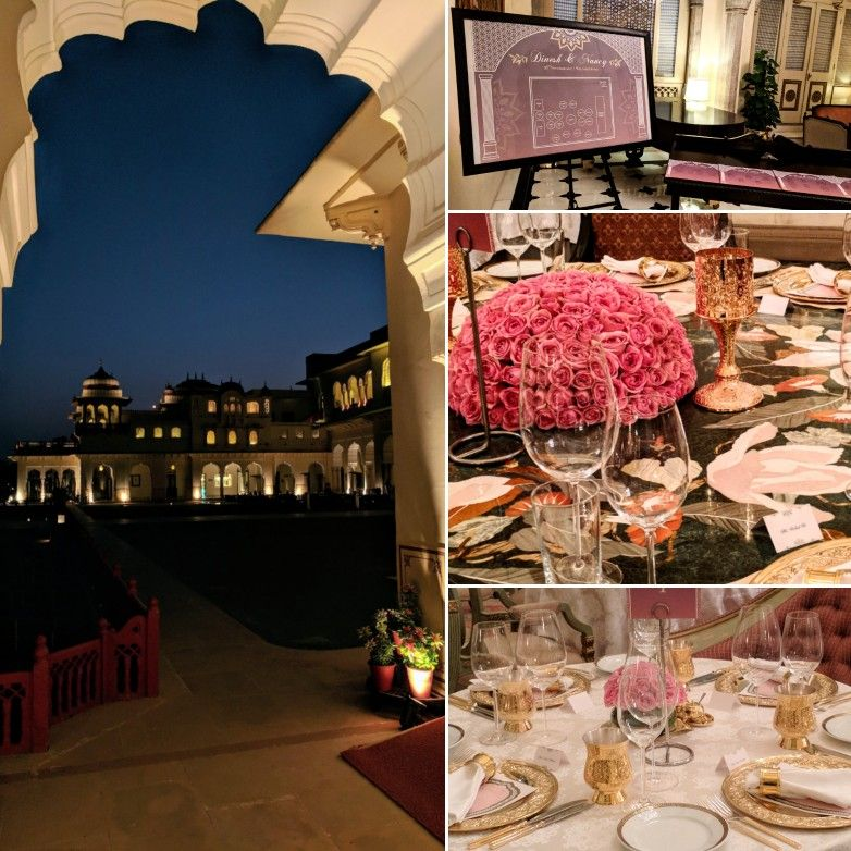 Wedding of Nancy and Dinesh, Rambagh Palace in Jaipur.