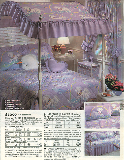 1991 Sears Catalog Canopy Bed Similar To What I Had With Images Furniture Trends Retro Furniture Furniture