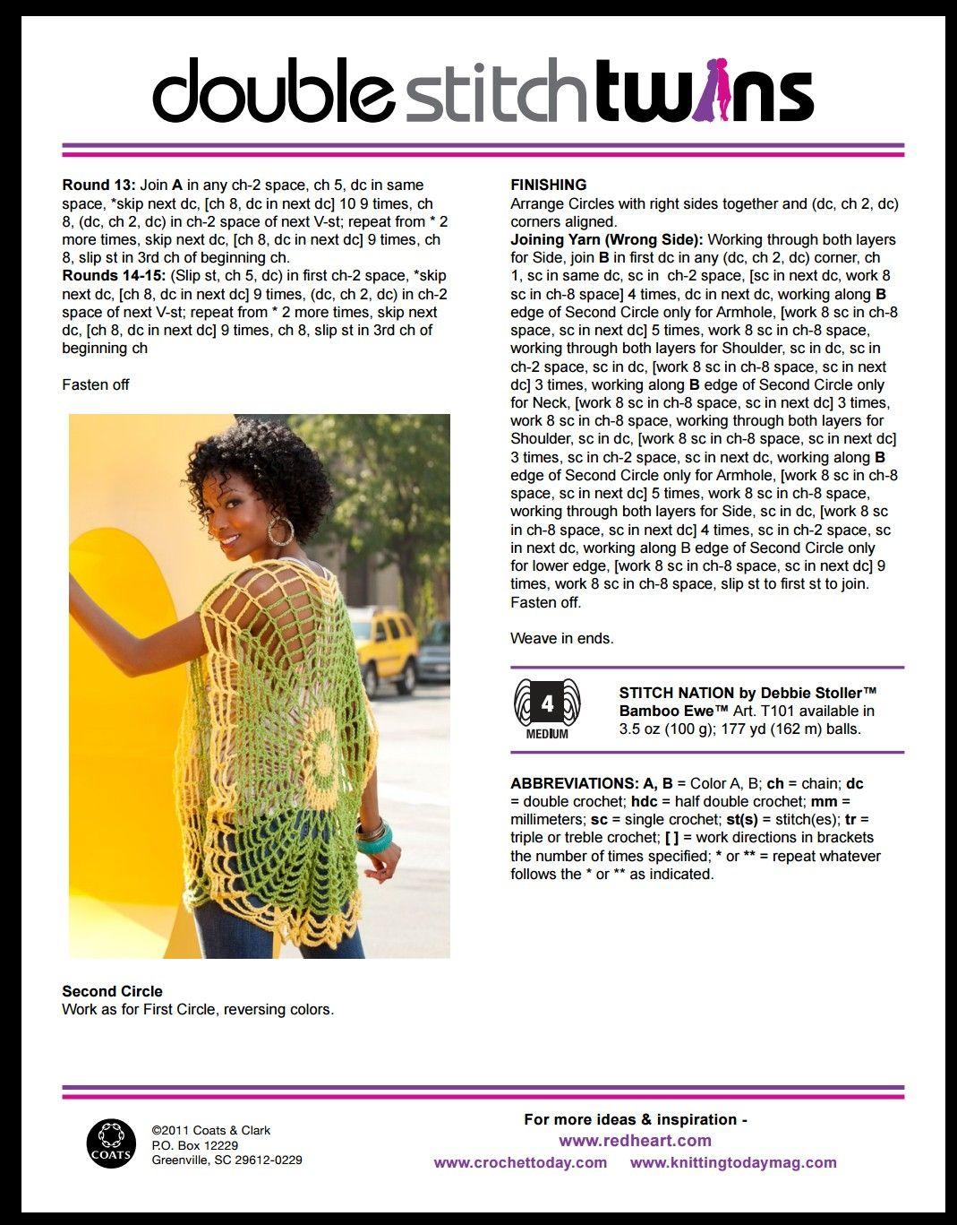 Magnífico Redheart Patrones De Crochet Com Patrón - Coser Ideas Para ...
