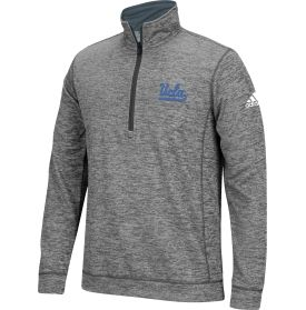 adidas quarter zip. look good while you train hard in the adidas® men\u0027s ucla bruins performance tech fleece quarter-zip. this heathered pullover is constructed with adidas quarter zip