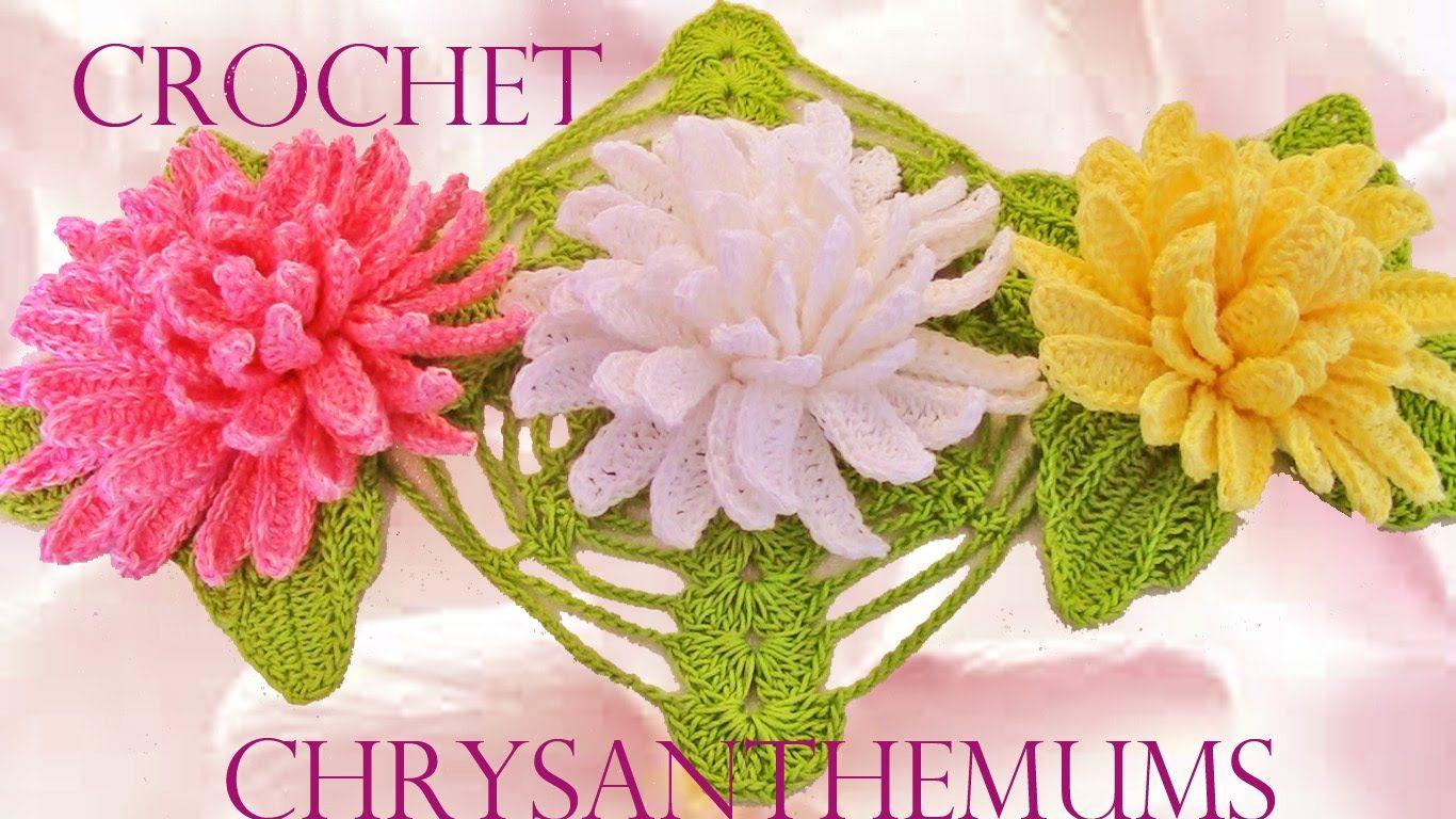 Como tejer fácil y rápido lindas flores Crisantemos - How to make ...