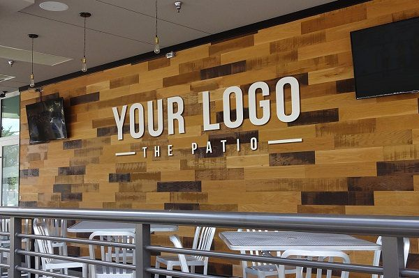 Store restaurant logo mockups templates