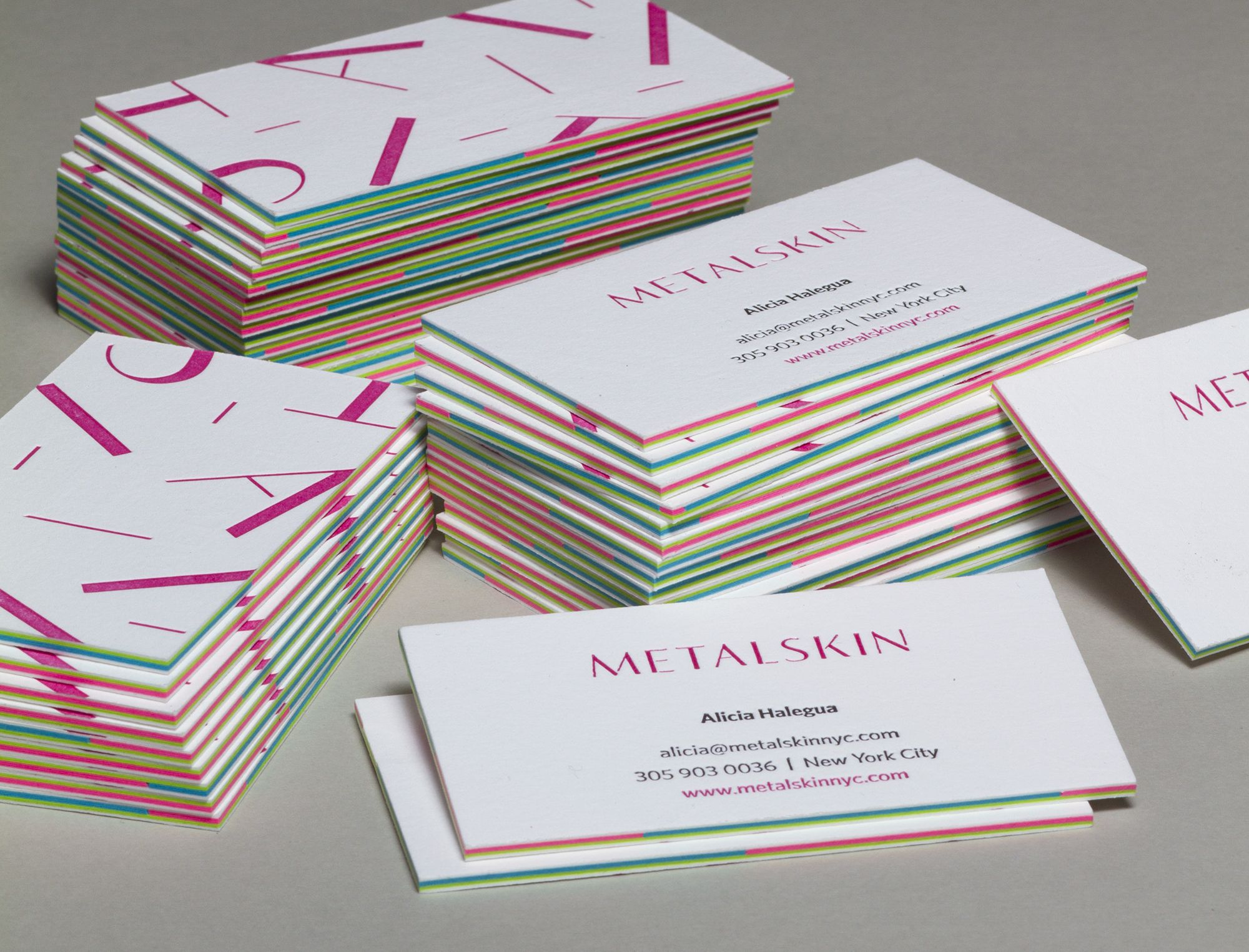 Letterpressed Layered Business Cards. These Letterpress business ...