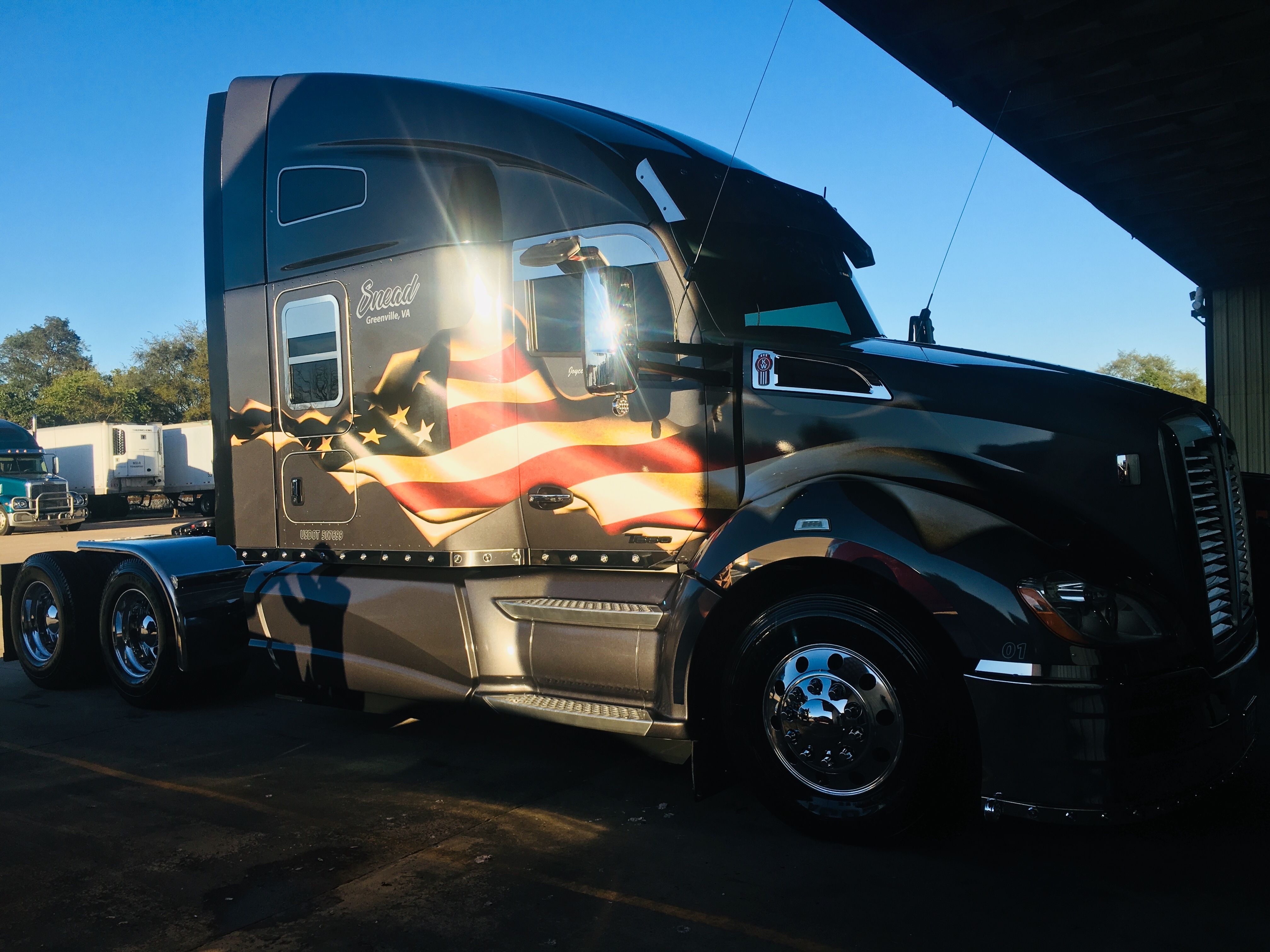 My Dads Badass Tractor Trailer Kenworth T680 With Images