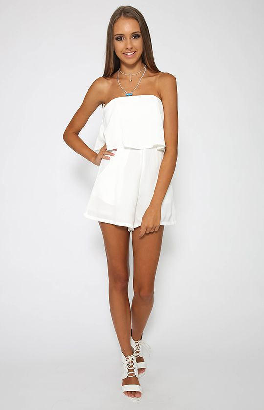 cc0a83c44cd Love Yourself Playsuit - White