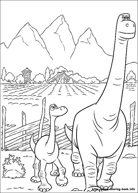 Good Dinosaur Coloring Page Free Library
