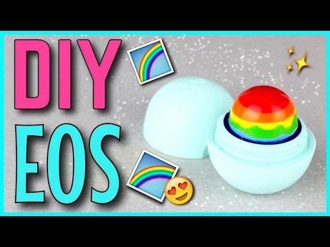 DIY EOS LIP BALM - Regenbogen Design selber machen | Deutsch | Louyuna - YouTube