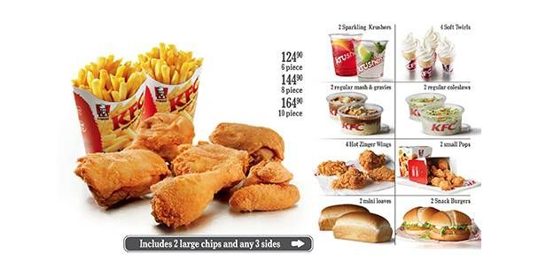 Tire Patch Cost >> Family Treat (6 piece, with any 3 sides) | KFC South Africa | I like ... | Kfc, Snack recipes ...