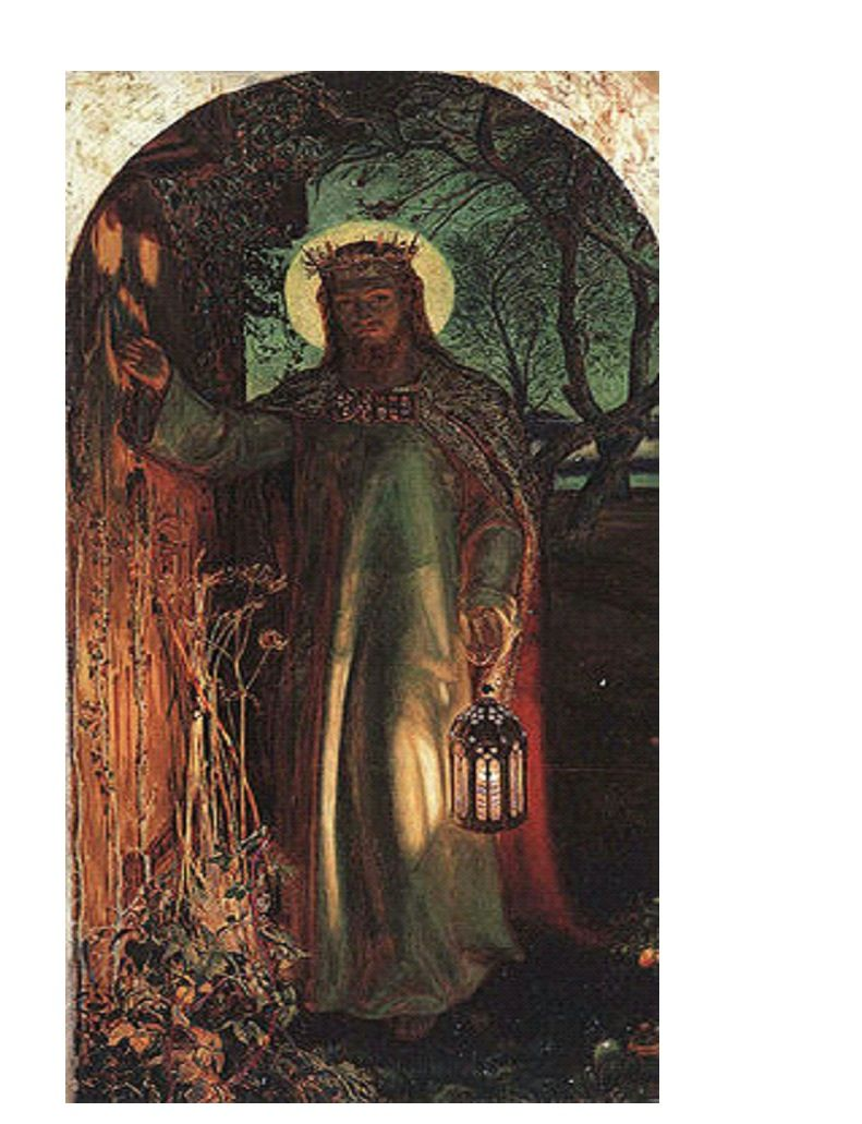 Holman Hunt S Painting The Light Of The World Inspired By Rev 3