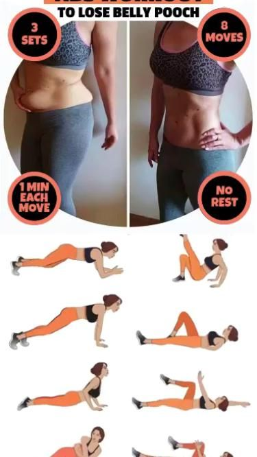8 simple moves to lose belly pooch