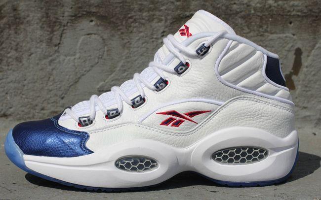 Reebok Question Iverson White Navy Sneakers Reebok Navy
