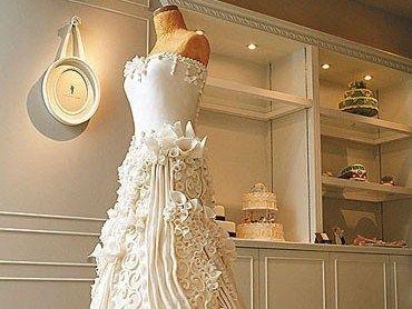 Stunning Wedding Dress Cake - Foodista.com