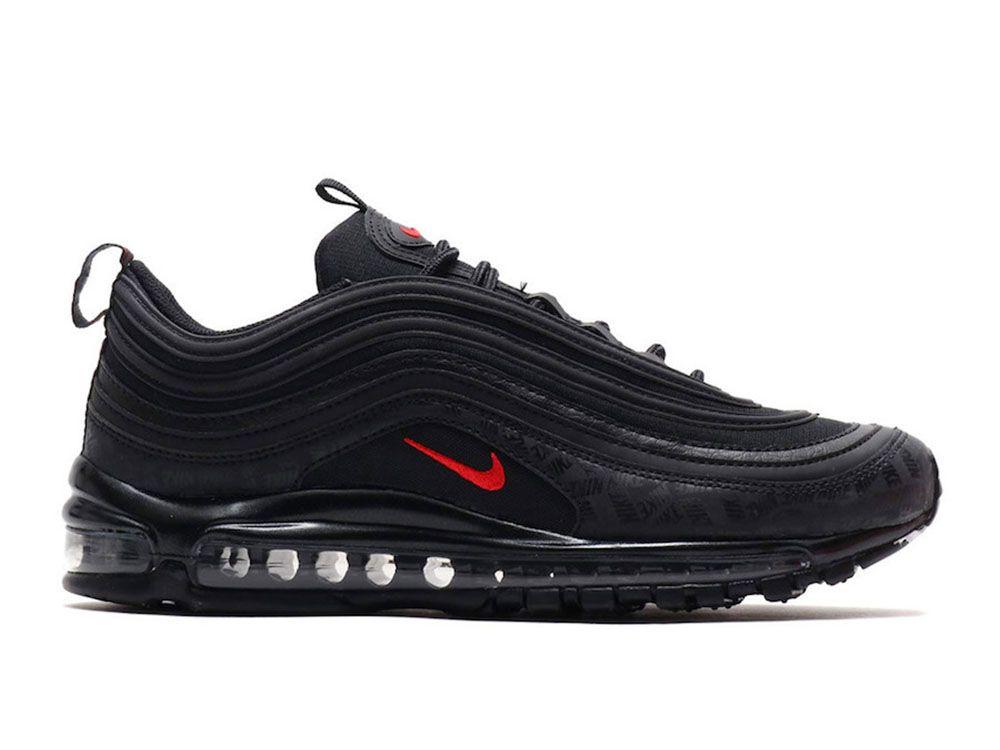 Nike Air Max 97 Triple Black 921733 001 | Nike air max, Nike