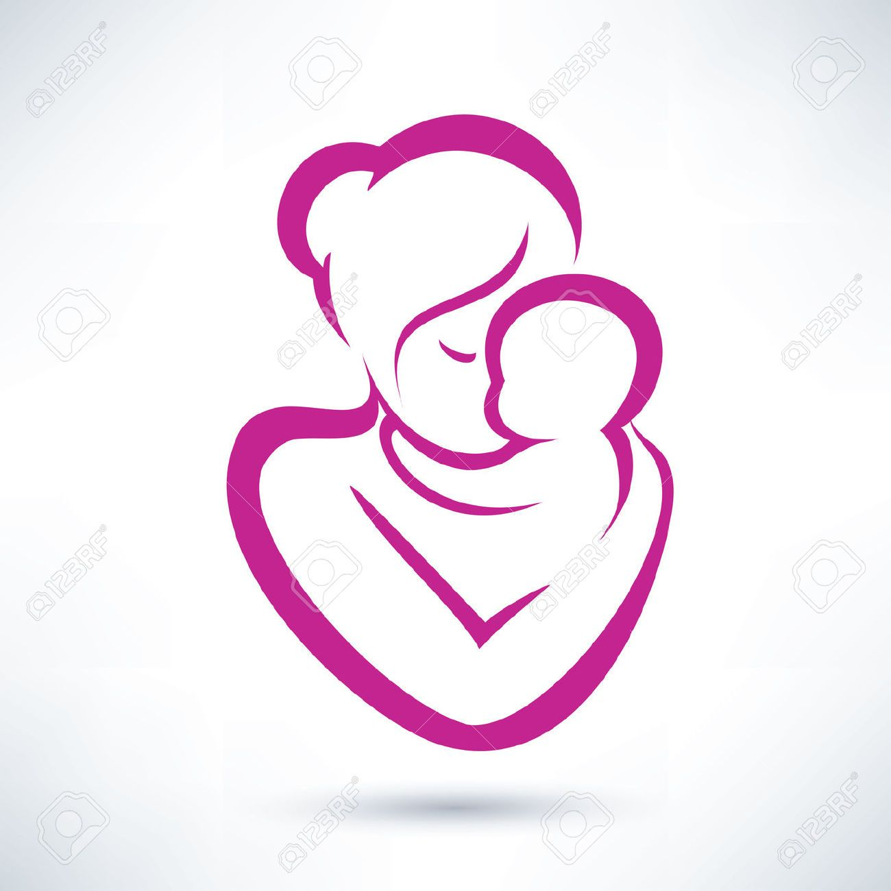 hight resolution of mom and baby clipart google search