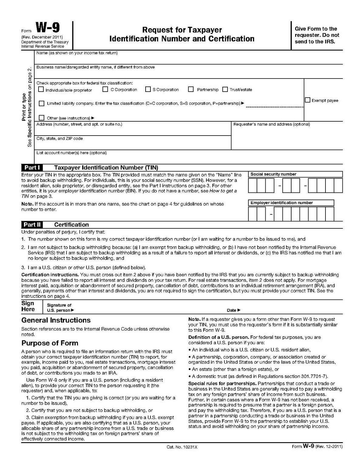 2015 Irs W9 Form Form W 9 In 2020 Tax Forms Irs Forms With Regard To Irs W9 Form 2021 Prin In 2021 Irs Forms Tax Forms Fillable Forms