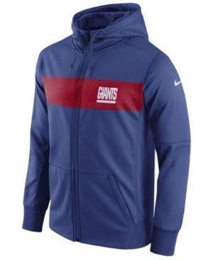 3941ae5771a6 Nike Men s New York Giants Seismic Therma Full-Zip Hoodie - Blue L ...