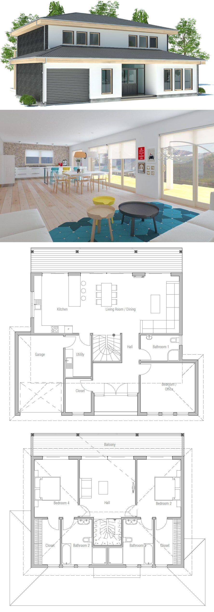 Plan De Maison Maison Maison Modernes Petite Maison Architecture