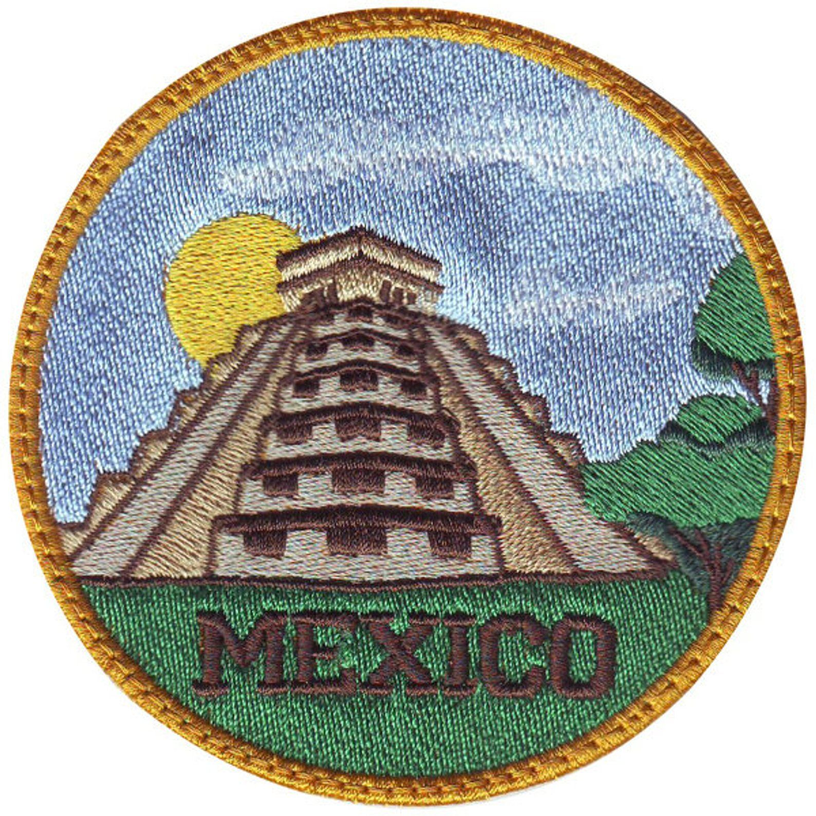 Chichen Itza Mexico B Embroidered Sew On Patch Etsy