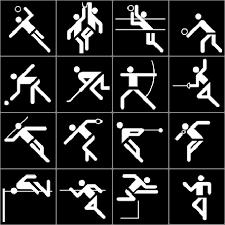 Resultado de imagen de ideogramas para los juegos olimpicos Otl Aicher