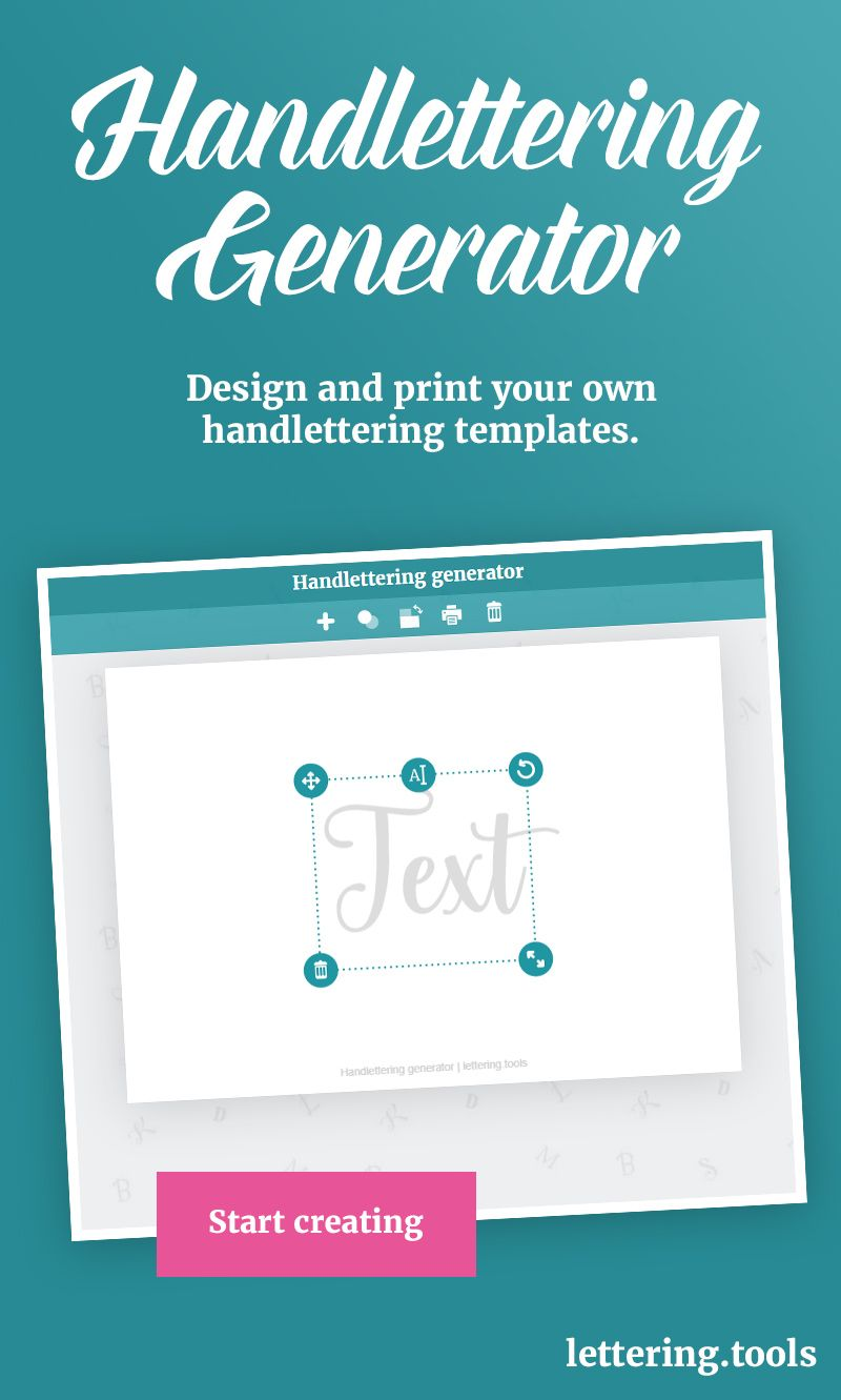 The Handlettering Generator Enables Presenting Adjusting And
