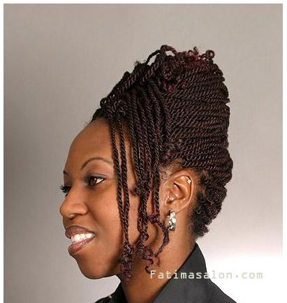 Two Strand Twist Hairstyles Two Strand Twists With Extensions 7  Updo Extensions And Black