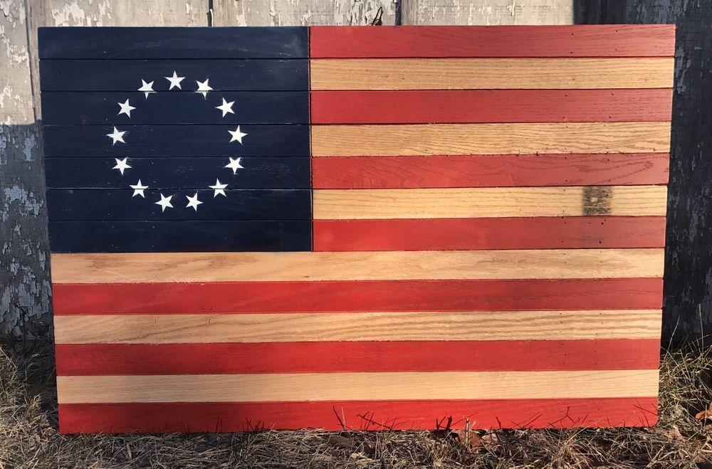 American Flag Hanging Wall Art Handmade 40 Long X 26 Wide Red Oak Ebay American Flag Wall Art Hanging Wall Art American Flag Pallet