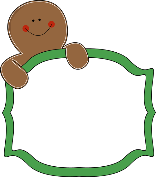 free gingerbread clip art borders great site for all kinds of free rh pinterest com free clipart gingerbread house free christmas gingerbread clipart