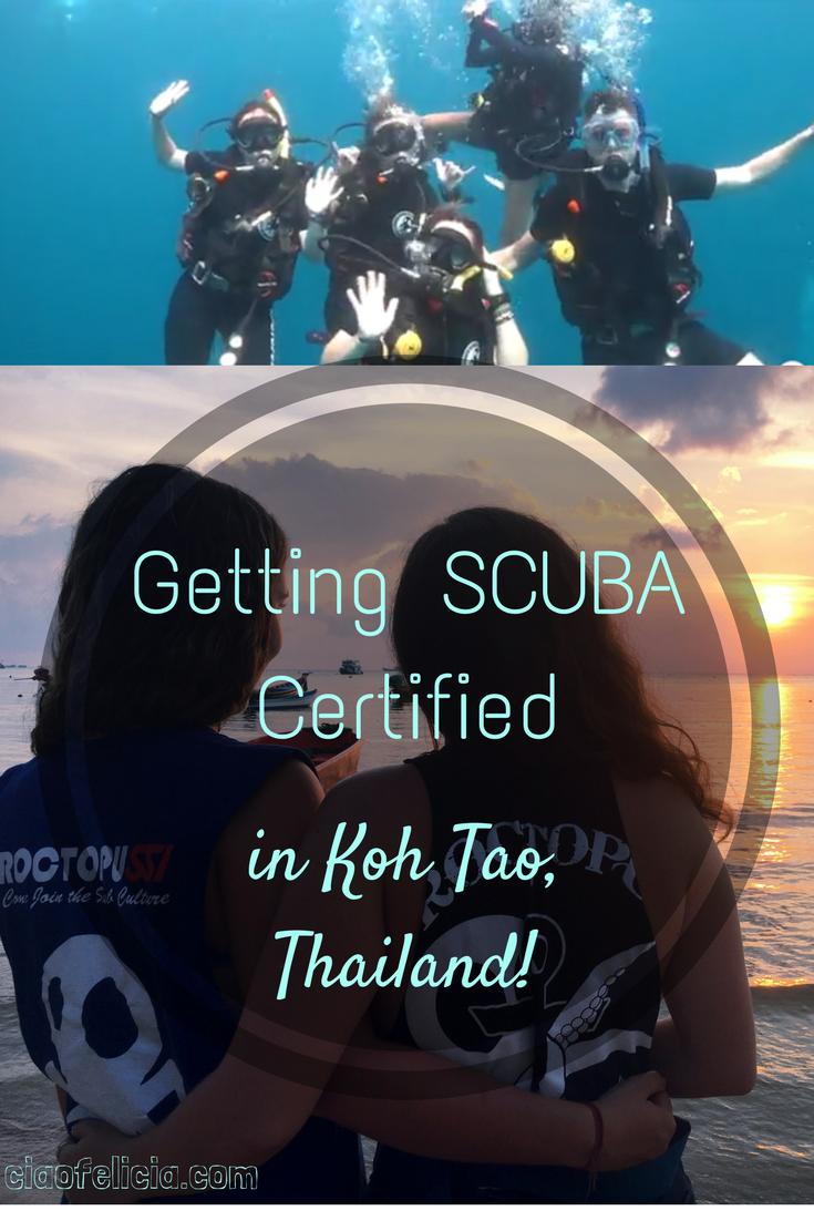 Getting SCUBA Certified in Koh Tao, Thailand | Open water, Scubas ...