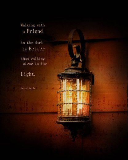 Inspirational Quote Light Of Friendship Lantern 8 By Eyecaptureart