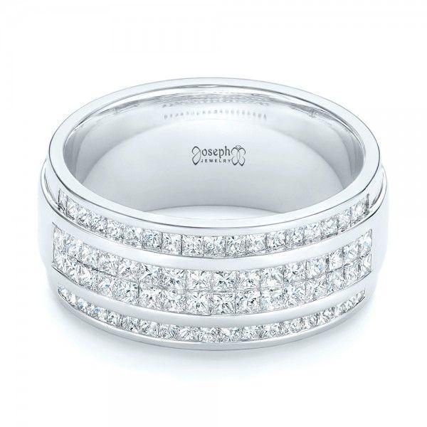 Custom Diamond Mens Wedding Band Diamond Ring and Wedding