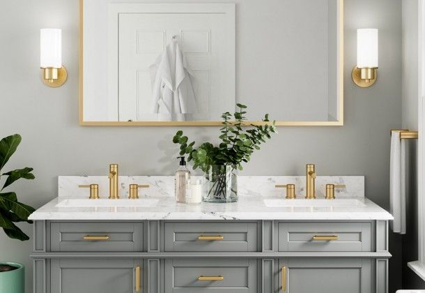 Brushed Gold Bathroom Kitchen Faucets