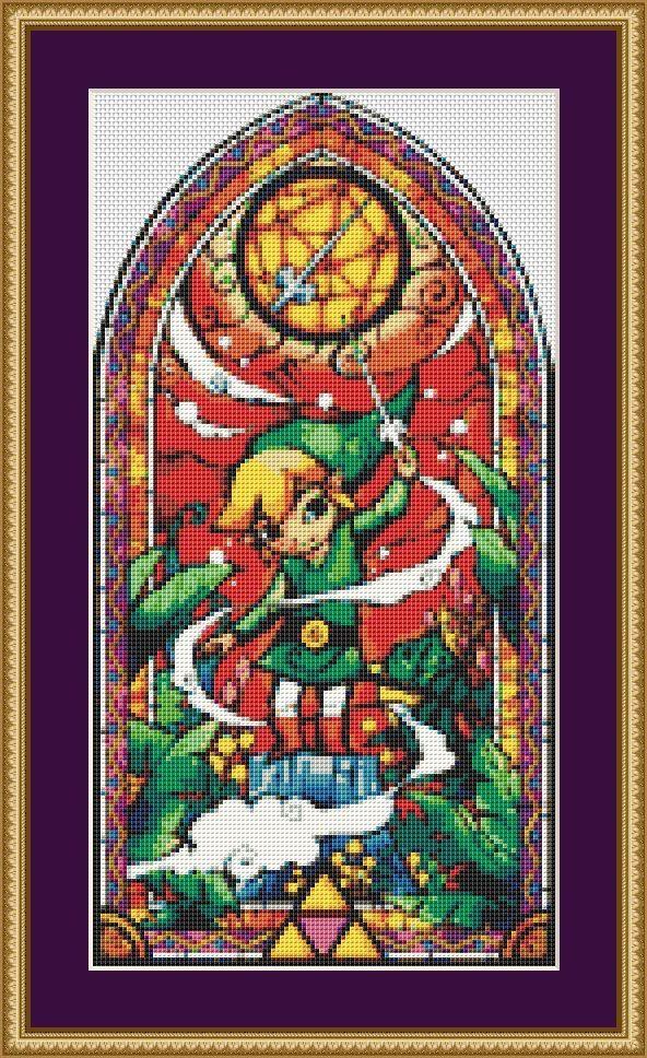 Zelda Cross Stitch Pattern, PDF, Nintendo Cross Stitch