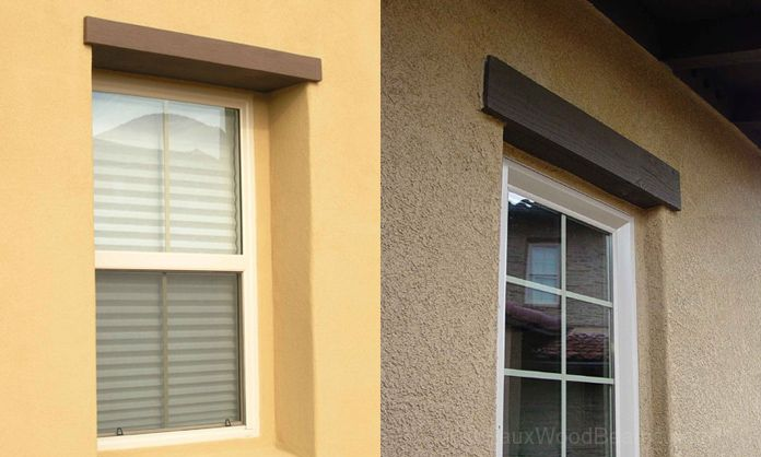 Faux Wood Headers Are Low Maintenance Door Or Window Accents