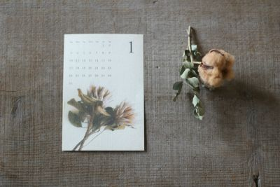 2016 BOTANICAL CALENDAR dryflower ドライフラワー カレンダー  FLEURI blog