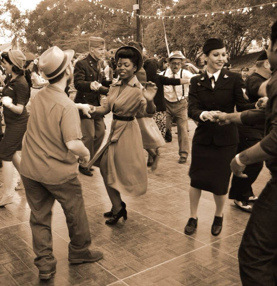 The Tim and I dancing at the Great Los Angeles Air Raid