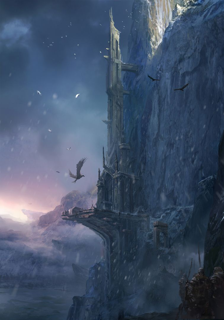 The ruined Fortress of the Iceborn